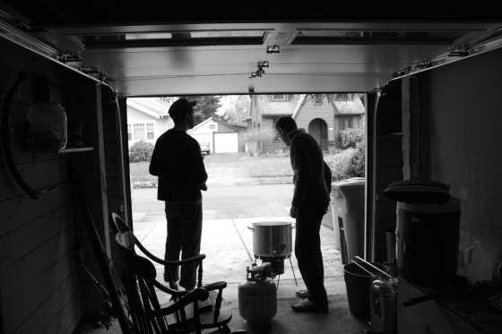 A marathon homebrewing session in Portland, OR