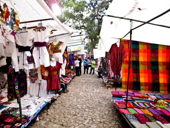 Open air market in San Cristobal